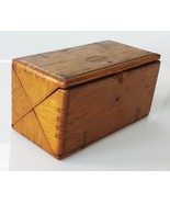 1889 antique FOLDING WOOD SINGER SEWING BOX w ACCESSORIES model 15 - $124.95