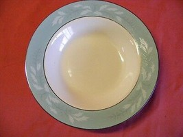 "Homer Laughlin Cavalier Romance 8.25"" Rimmed Soup Bowl Aqua - $5.00"