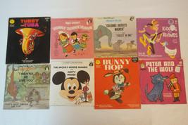 Lot Of 8 Vintage/Antique 45 RPM Children's Records, Disney, Peter Pan Re... - $63.00