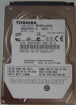 "New 80GB 2.5"" SATA Drive Toshiba MK8046GSX HDD2D93 Free USA Shipping"