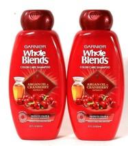 2 Bottles Garnier 22 Oz Whole Blends Argan Oil & Cranberry Color Care Shampoo - $24.99