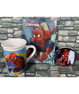 Marvel SPIDERMAN Christmas Holiday Gift Set Ball Ornament Notebook Coffe... - $8.90