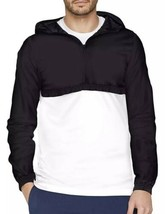 Under Armour Black White Windbreaker Light Jacket Parker New Adult Size ... - $34.29