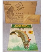 Vintage Original Cooks Sporting Goods Co DeLuxe Fishing Catalog 1935 Den... - $24.95