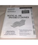 Panasonic FAX KX FP250LA Spanish Language Operating Instructions Manual ... - $12.95