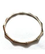 T22 gold tone bangle bracelet Bamboo look - $9.85