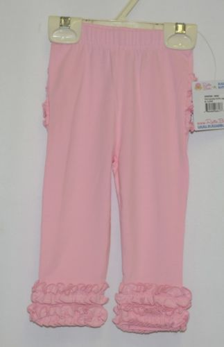 Ruffle Butts SPKPI06 Everyday Pink Ruffles Pants Leggings 6 to 12 Months
