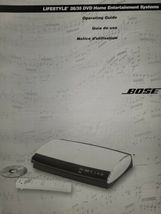 Bose Lifestyle 28/35 DVD Home Entertainment Systems Operating Guide Bili... - $12.86