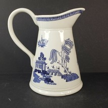 Vintage Empire Ware England Water Pitcher Blue Willow Pattern Made in Portugal - $49.00