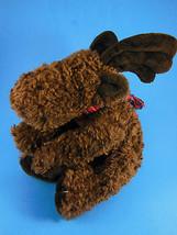 "Vintage RUSS BERRIE Plush MARVIN Moose w tartan scarf 12"", 9"" sitting Ch... - $14.84"