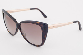 Tom Ford Reveka Dark Havana / Brown Sunglasses TF512 52G - $185.22