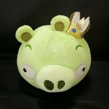 "Angry Birds Green King Pig Gold Crown No Sound 5"" Plush Stuffed Animal - $19.79"