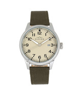 Elevon Bandit Leather-Band Watch w/Date - Olive/Tan - $170.00