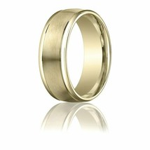 Fine 10k Yellow Gold 8 mm Comfort-Fit High Polished Round Edge Wedding B... - $235.62+