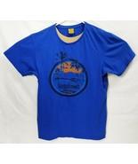 Tangalooma Island Resort Australia Men T-Shirt Blue Size L EUC Made in A... - £11.82 GBP