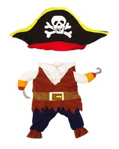 TOPSUNG Cool Caribbean Pirate Pet Halloween Christmas Costume for Small ... - $17.55