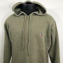VTG Tommy Hilfiger Hoodie Jacket 90s Flag Sailing Sweater Olive Green Pu... - $31.14