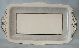 Royal Albert Silver Gray Bread Tray Unknown Pattern - $88.99