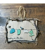 Handmade Up-Cycled Laundry Room Home Decoration-Outdoor Clothesline-Sea Glass - €6,71 EUR