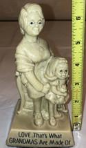 "Statue Figurine ""Love...Grandmas.."" Vintage Russ Wallace Berrie R & W World - $15.84"