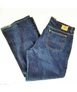 Tommy Hilfiger Mens Blue Flair Jeans 36x32 Dark Wash EUC  - £29.43 GBP