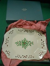 "NIB-Beautiful LENOX Christmas TRAY....9"" x 6.5"" - $14.44"