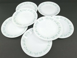 """7 Corelle Country Cottage 6 3/4"""" Bread Butter Plates Corning Green Vines Hearts - $39.27"""