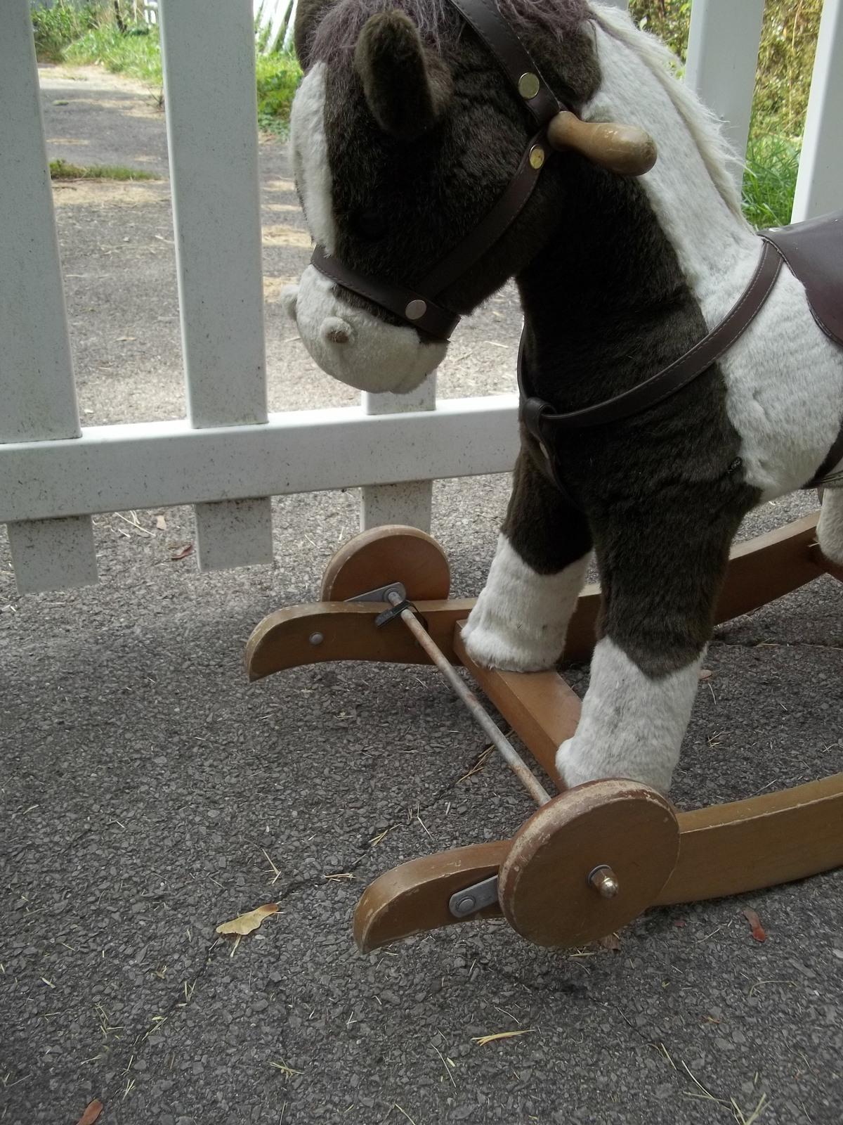 Chrisha Playful Plush Rocking & rolling Horse, 1996 vintage