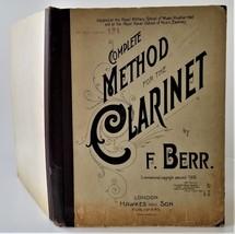 1900 antique CLARINET MUSIC BOOK illus bound sheet music hard cover cata... - $124.95