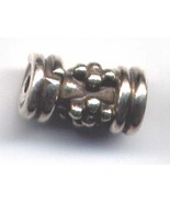 5 Sterling Silver Bali Granulated Tube Spacers 6mm #ZG027 - $10.94