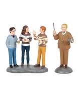 Department 56 Harry Potter Village Professor Slughorn & The Trio Figure 6006515 - $45.06