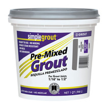 Custom SimpleGrout  Natural Gray  Sanded Grout  1 qt. - $17.99
