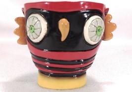 Colorful Owl Trinket Dish Think Big Red Black Yellow Motivation Planter ... - $19.38