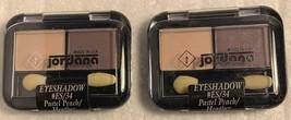 Lot of 2 Jordana Eyeshadow Pastel Peach/Heather #ES/34 041065266345 .078oz/2.2g - $7.99