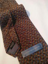 Geoffrey Beene Mens 3 Ties + CashMe Green Plaid Acrylic Scarf Handmade Silk Tie image 11