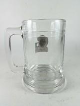 Packers Clear Glass Stein Mug Embossed Metal Logo - $14.54