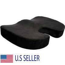 Orthopedic Coccyx Seat Cushion Foam Office Chair Pillow Truck Black Pad - $14.73