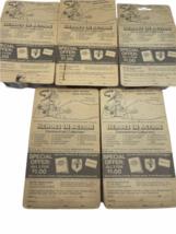 Lot (5) NOS Vintage 1974 Mattel Heroes in Action Card Figure Sealed Package image 4