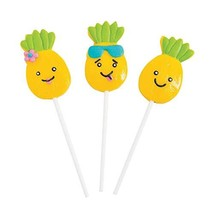 Pineapple Character Lollipop Suckers Individually wrapped set of 12 Part... - $15.23