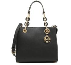 MICHAEL KORS Cynthia Small Leather Satchel Shoulder Bag Women - $230.00