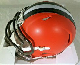 NICK CHUBB/ AUTOGRAPHED CLEVELAND BROWNS RIDDELL BRAND MINI HELMET / COA image 3