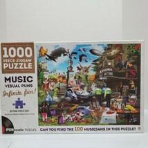 "Hinkler 1000 Piece ""Music Visual Puns"" Puntastic Jigsaw Puzzle SEALED - $18.00"