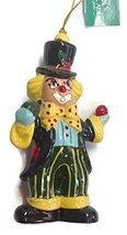 Porcelain Clown Ornament 4.5 inches (B) - $15.00