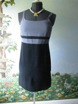 Ann Taylor Loft Women' Gray and black dress size 6 NWT - $45.53