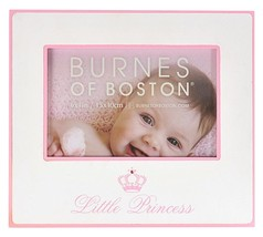 """Burnes Of Boston Pink Little Princess Picture/Photo Frame 8""""x7"""" Holds 6""""... - $18.79"""