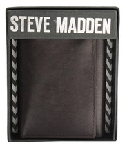 NEW STEVE MADDEN MEN'S PREMIUM LEATHER TRIFOLD ID WALLET BROWN N80004/01