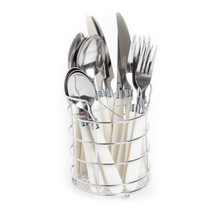 Gibson Home Sensations 16-Piece Flatware Set with Wire Caddy New White - $15.69