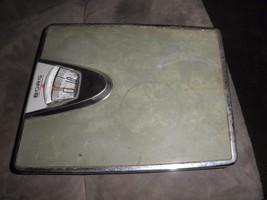 Vintage Borg Erickson  Bathroom Scale Metal Mid Century Scale Home Art D... - $25.74