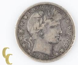 1914-S Barber Half Dollar (Very Fine, VF) San Francisco Silver 1/2 $ 50c... - $127.71