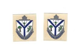 VINTAGE WWII U.S. ARMY 132nd INFANTRY REGIMENT SEMPER PARATUS HELMET DEC... - $2.99